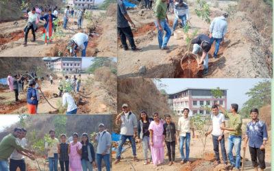 NSS unit KGRDCP Tree Plantation and Shramadan on 12.01.2019