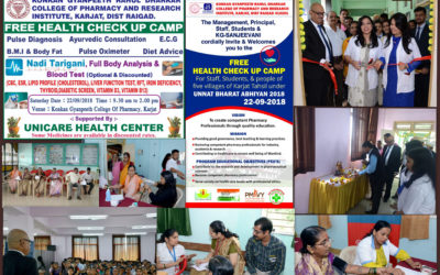 18 Free Health Check Up Camp Programme on 22.09.2018