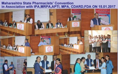 3 15.01.2017 Maharashtra State Pharmacists' Convention in Association with IPA,MRPA,APTI, MPA, CDARD,FDA ON 17