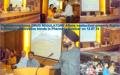 3 Pharmacovigilance DRUG REGULATORY Affairs Intellectiual property Rights & Emarging innovative trends in pharmacy Seminar on 12.07.14